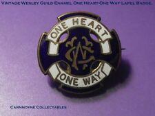 Vintage Wesleyan  Guild Enamel One Heart-One Way Lapel Badge AH9851.