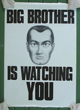BIG BROTHER IS WATCHING YOU•28x40•Vintage Poster Design Kenneth Stewart•Orwell