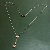 Antikes Jugendstil DIAMANT-COLLIER m. 750er GOLD ~1910 •
