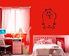 Wall Stickers Vinyl Decal Nursery Hamster Animal Funny Cartoon For Kids ig1696