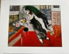 Marc Chagall Poster Birthday- A Lover Sweeps Woman Off Feet 14x11 Unsigned Print