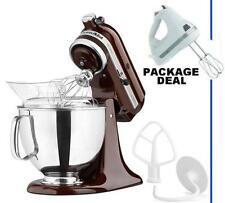 KitchenAid Stand Mixer tilt 5-Quart ksm150pses Artisan Brown Espresso +Free Hand