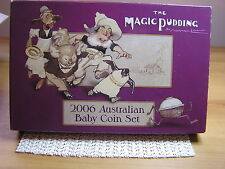 2006 Australia's Baby Proof Coin Set - Magic Pudding Series:C/V $150