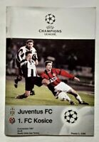 PROGRAMMA BROCHURE JUVENTUS - 1. FC KOSICE 5 NOVEMBRE 1997 CHAMPIONS LEAGUE