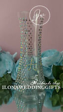 Personalized Swarovski Crystal Rhinestones Vase Bowl Unique Gift Bling Sparkle