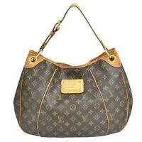 Authentic Louis Vuitton Monogram One Shoulder Satchel Hand Bag Purse Galliera PM