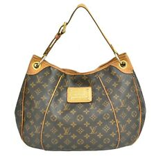 Authentic Louis Vuitton Monogram One Shoulder Satchel Hand Bag Purse Galliera PM