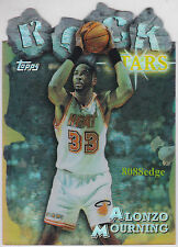 1997-98 TOPPS ROCK STARS REFRACTOR: ALONZO MOURNING #RS19 DIE-CUT MIAMI HEAT