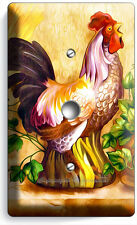COUNTRY FARM ROOSTER RUSTIC LIGHT DIMMER VD CABLE WALL PLATE COVER KITCHEN DECOR