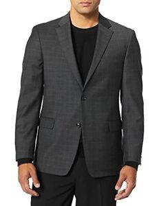 Tommy Hilfiger Men's Jacket Modern Suit Separates Jacket (Charcoal Plaid, 36S)