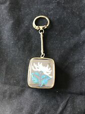 Vintage Sankyo Flower with glass top Music Box Key Chain
