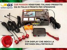 KIT 4 SENSORI DI PARCHEGGIO AUTO ROSSO DISPLAY PEUGEOT 206 207 4008 308 1008