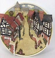 David Winter Cottages Collectors Guild Piece Plaque 3D Plate Cobblestone Street