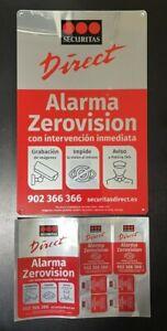 Placa alarma disuasoria grande + pegatinas Securitas Direct. MODELO 2020