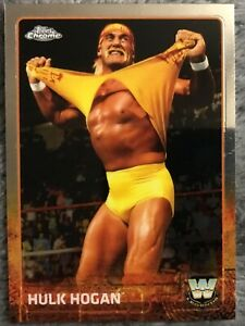 2015 Topps Chrome WWE Hulk Hogan #83 base card