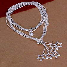 Dallas Cowboys silver plated stars necklace