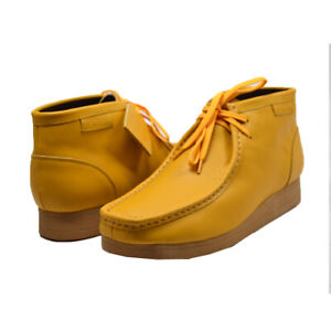 NEW BRITISH WALKERS ORIGINAL NEW CASTLE 2 YELLOW LEATHER WALLABEES LACE UP SHOES