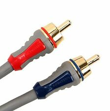 New Monster Stereo Thin Profile 24k Gold Connectors  Audio Cable Grey 2M FS A200