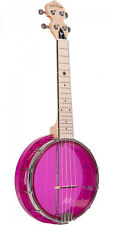 Gold Tone Little Gem See-through Banjo-ukulele With Bag - Amethyst