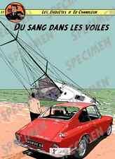 """""""Du sang dans les voiles"""" dessin numérique. BMW 1600GT Style BD par JICEHER"""