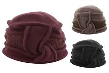 Whiteley Fischer Ladies Wool Pull On Hat With Knitted Trim (BH5034)