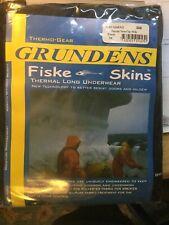 GRUNDENS FISKE SKINS THERMAL LONG BLACK UNDERWEAR SIZE 3XL
