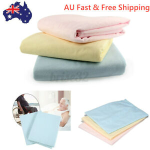 Washable Reusable Incontinence Bed Wetting Pad Underpad Sheet Mattress