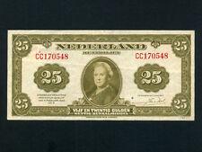Netherlands:P-67,25 Gulden,1943 * Queen Wilhelmina * VF-EF *