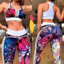 High Quality Colombian Brazilian Women Set Outfit Tights Top Microfiber S M Gym