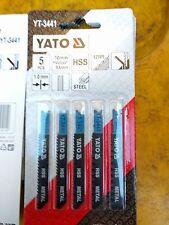 YATO YT-3441 HSS  Jigsaw Blades for steel metal U Shank. 70x53 mm Pack of 5.