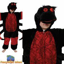 Kids Red & Black Spider Halloween Child Boys Fancy Dress Costume