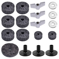 18PCS CYMBAL STAND FELT HI-HAT CUP WING NUTS SLEEVES DRUM ACCESSORIES OPU