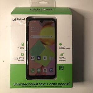 "LG Risio 4 (Cricket Wireless) 16GB 4G LTE Prepaid SmartPhone 5.7"" - New Sealed!"