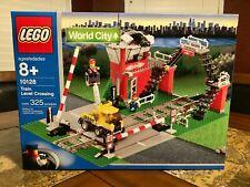 LEGO 10128 9V TRAIN LEVEL CROSSING WORLD CITY NEW SEALED RARE!