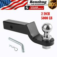 """5000LB RV Trailer Hitch Towing Kit 2"""" Ball Mount with 2"""" Hitch Ball Receiver USA"""