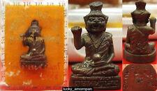 Mini Statue Phra LERSI Head Tiger LP KEE Thai Buddha Amulet lucky Rich NO.1