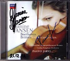 Janine JANSEN, Paavo JÄRVI Signiert BEETHOVEN & BRITTEN Violinkonzerte Violin CD