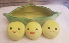Disney Pixar Toy Story 3 Green Peas In A Pod Plush Zippered Pouch Stuffed Toy