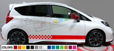 Sticker Decal for Nissan note xenon side front carbon light mirror bumper rear
