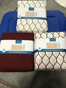 Interiors By Design King Sheets 4pc Set