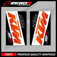 KTM SE1 UPPER FORK DECALS ORANGE WHITE MOTOCROSS GRAPHICS MX GRAPHICS