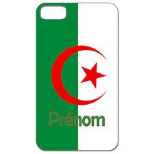 Coque 3 D Téléphone Personnalisée - Iphone 4 4S - Carte Algérie drapeau algérien