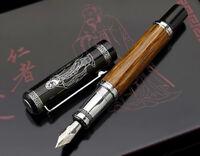 Duke 551 Confucius Medium Nib Wood Fountain Pen, Natural Bamboo Writing Gift Pen