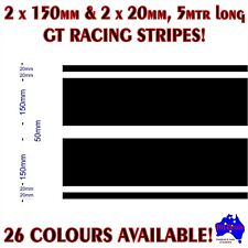 2x150mm+2x20mm(50mm gap) GT racing stripes performance car vinyl decal stickers!