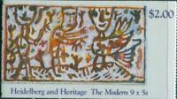 Australia booklet 1990 SG1269-1270 Heidelberg and Heritage MNH