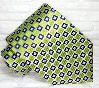 Cravatta nuova seta verde Top quality Made in Italy Morgana Italia handmade