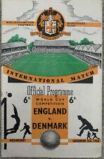 More details for england v denmark @ wolverhampton 1956