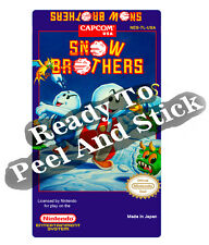 Snow Brothers Nes Cartridge Replacement Game Label Sticker Precut