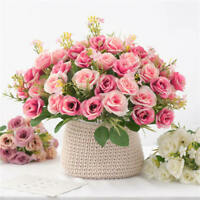 Artificial Flowers Plants Floral Small Roses Bouquet Party Home Decor Gift DIY