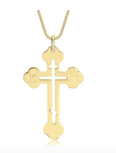 Jewels Obsession Cross Pendant Made in USA 18 Chain Gold Filled Cross Pendant
